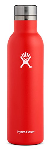 Hydro Flask 25 oz Wine Bottle | Stainless Steel & Vacuum Insulated | Leak Proof Cap | Lava ()
