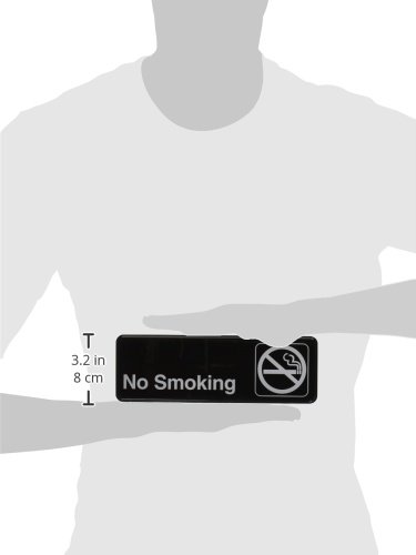Winco SGN-310 Sign, 3-Inch by 9-Inch, No Smoking by Winco (Image #1)
