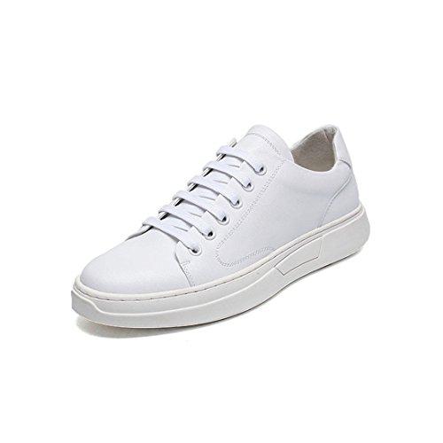 Mens Outdoor Sport Lopen Wandelschoenen Lichtgewicht Casual Sneakers Y8101 Wit