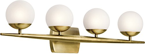 Kichler 45583NBR Four Light Bath Brass Four Light Bath Fixture