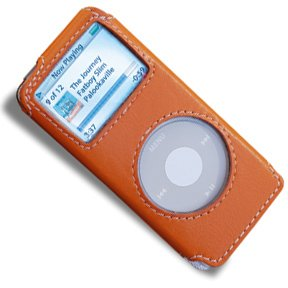 (Covertec Luxury Pouch Case for iPod Nano - Nappa Leather (Orange))