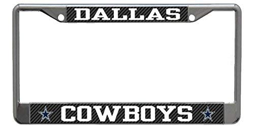 (Acove Stockdale Dallas Cowboys NFL Laser Chrome Metal License Plate Frame Tag Holder)