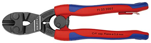 71 22 200 T BK COMPACT Bolt Cutters ''Cobolt'' 7, 87'' 20° Angled with Tether Attachment Pt. In Blister Packaging