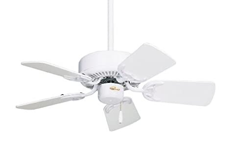 Emerson Ceiling Fans CF702WW Northwind Indoor Ceiling Fan, 29-Inch Blades, Light Kit Adaptable, Appliance White - Emerson Indoor Fans