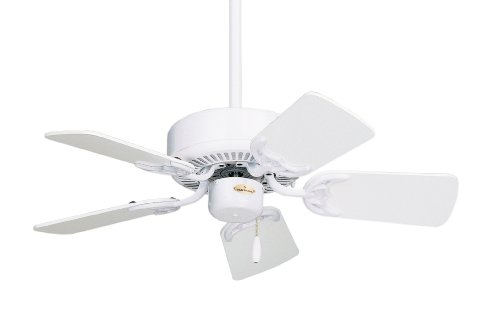 Traditional Fan Ceiling Emerson Oak - Emerson CF702WW Northwind Indoor Ceiling Fan, 29-Inch Blades Span, Light Kit Adaptable, Appliance White Finish