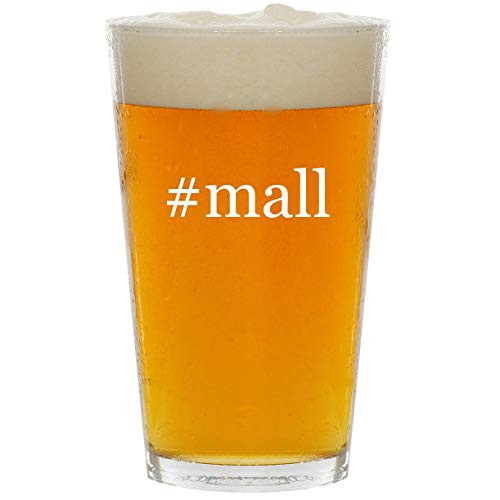 #mall - Glass Hashtag 16oz Beer Pint ()