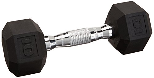 Cap Barbell Workouts Coated Hex Dumbbell, Black, 45 lb