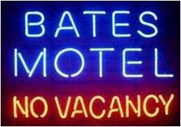 Neon princess Factory 24x20 inches Bates Motel no Vacancy Real Glass Tube Neon Light Home Beer Bar Pub Recreation Room Game Lights Windows Signs (No Vacancy The Best Of The Motels)
