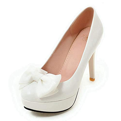 Sam Carle Women Pumps, Sweet Butterfly-Knot Candy Color Super High Spike Heel Party Shoes