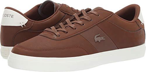 Lacoste Men's Court-Master Sneaker, Brown/Off White, 12 Medium US