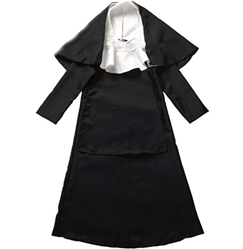 Mitef Festival Performance Kid's Nun Cosplay Costume for Little Girls, M ()