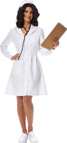 Official Costumes Vintage Nurse Adult Costume - Small