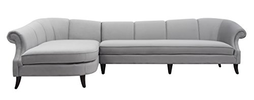 Jennifer Taylor 66060-L-865 Victoria Left sectional Sofa, Facing, Opal Gray ()