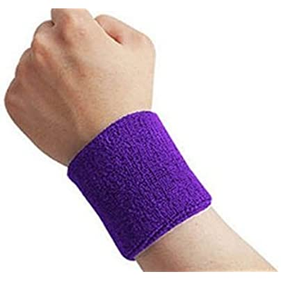 Nroom pcs Sport Sweatband Tennis Basketball Gym Wristband Wrist Wraps purple Estimated Price £0.99 -