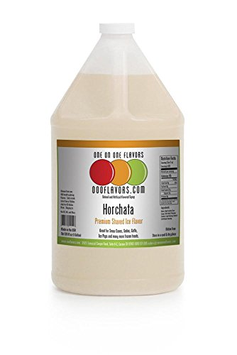 Horchata Concentrate (OOOFlavors Horchata Snow Cone Flavored Syrup- 1 Gallon)
