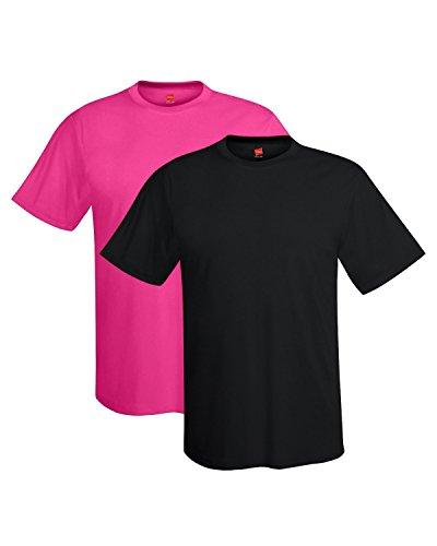Dri Mesh Short Sleeve T-shirt - Hanes Men's Short Sleeve Cool DRI T-Shirt UPF 50+, BK/6A, XX-Large (Pack of 2)