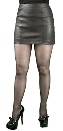 Very Short Soft Genuine Real Nappa Leather Mini Skirt (12