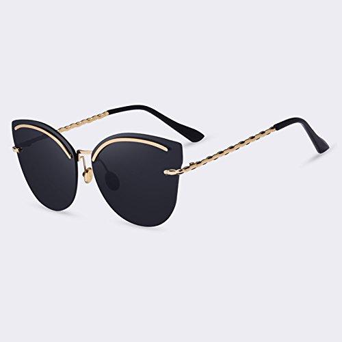 en TIANLIANG04 sin para reflectantes del C03Rosa gafas espejo elegante UV400 reborde estilo aleación mujer sol Gafas gafas piernas bastidor C01Gray de de de vidrios sol de 7qwHf7r