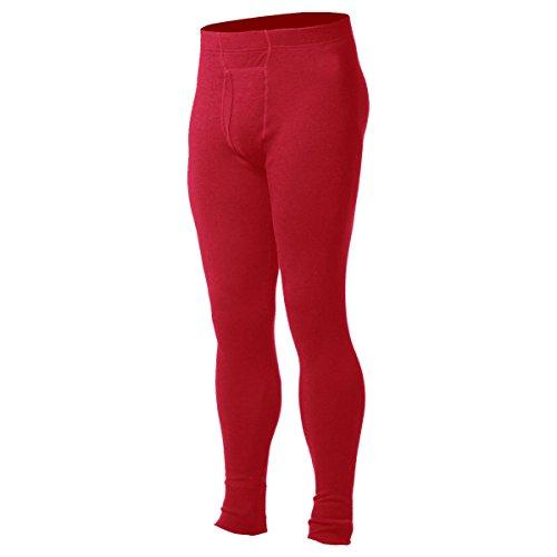 Minus33 Merino Wool Men's Kancamagus Midweight Bottom, True Red, Large