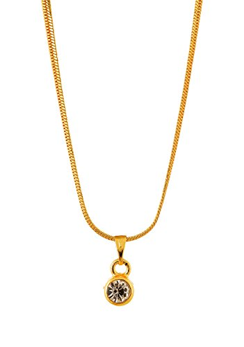 Handicraft Kottage Girl's Gold Plated Pendant (HK-SP-1068) by Handicraft Kottage