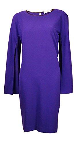 Seamed Shift Dress (Calvin Klein Byzantine Womens Seamed Shift Dress Purple 6)