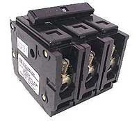 BAB3080H WESTINGHOUSE (CUTLER HAMMER) 80 AMP, 3 POLE, BOLT-IN CIRCUIT BREAKER EATON, TYPE BA 80A 3P