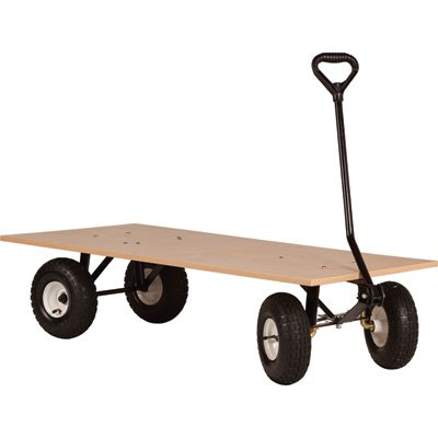 Farm-Tuff Flatbed Wagon – 48in.L x 24in.W, 1000-Lb. Capacity, Model# FRW