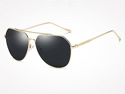 gray Masculinos TL de Gafas Plata Sunglasses polarizadas de de Hombres Mujeres piloto Hombres de Revestimiento Negro para gold Sol Espejo Gafas Sol Gafas ffBxwSqrO