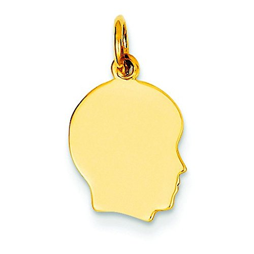 14k Yellow Gold Solid Polished Engravable Plain Sml.027 for sale  Delivered anywhere in Canada