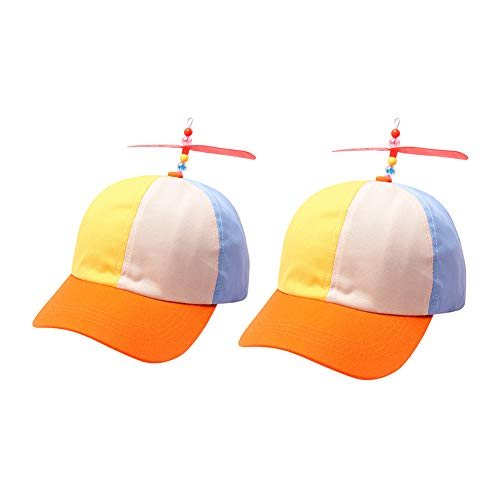 ler Hat, Multi-Color Baseball Style Cap for Sun Hat Children Boys Girls Dad Hat and Audlts,Personalized Casual Hat,Parent-Child Cap (Blue Beige Yellow) ()