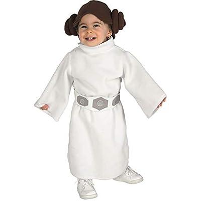 Rubie's Costume Star Wars Princess Leia Romper, White, 6-12 Months: Clothing
