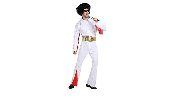 Elvis Presley Disfraz Peluca Cinturón Accesorios Adulto Mono ...