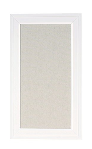 DesignOvation 209411 Bosc Framed Linen Fabric Pinboard, Small, - Fabric Covered Memo Board