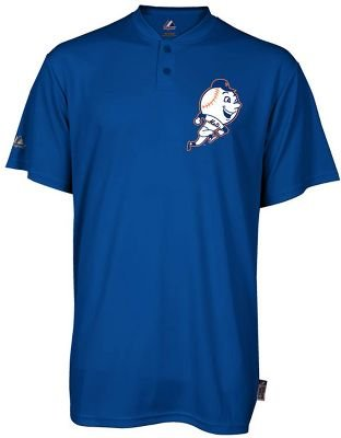Majestic Youth MLB 2-Button Cooperstown Replica Jersey Mets, large