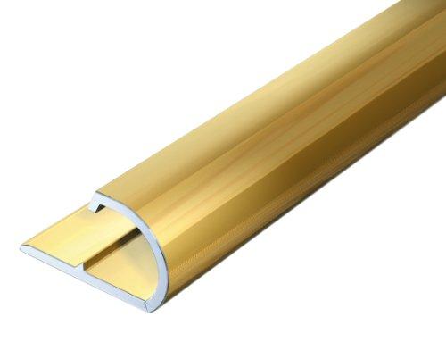 Gah Alberts 476564 Abschlussprofil Aluminium Goldfarbig Eloxiert