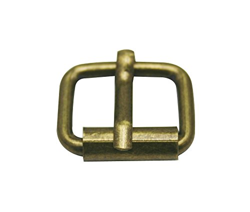 Generic Metal Bronze Rectangle Buckle 0.8 X 0.6 Inside Size Needle Bar Strap Keeper by Generic Tianbang