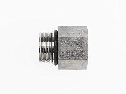 6410-16-24 Hydraulic Adapter 1 Male BOSS X 1 7//8-3//4 Female BOSS Carbon Steel