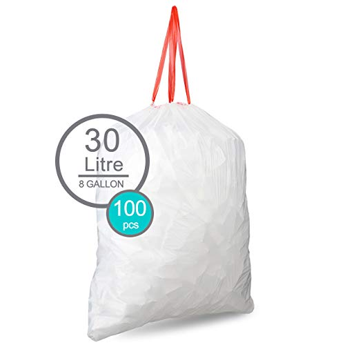 Price comparison product image Drawstring Trash Bags By SoYoSaltBae 8 Gallons Clear Eco-Friendly & Heavy-Duty Kitchen Garbage Bags Strong & Resilient Waste Bags For House Office Household Garage(5 Rolls / 100 Counts)