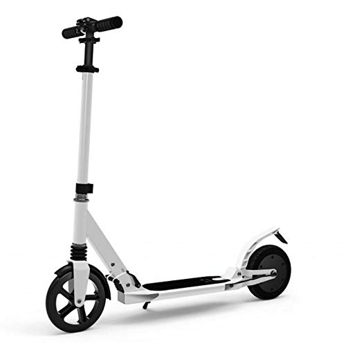 Power Assist Electric Scooter Lightweight Foldable & Easy Carry Pro Electric Kick Scooter for Adults Offroad- Mobility Folding e Scooter Upgraded Motor - White