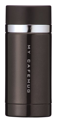 Pearl Premium Mai Cafe Slim Direct mug 200 (Black Leather) H-6928 (japan import)