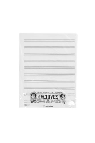 Archives Loose Leaf - Archives Looseleaf Xerographic Manuscript Paper, 10 Stave, 50 Pages