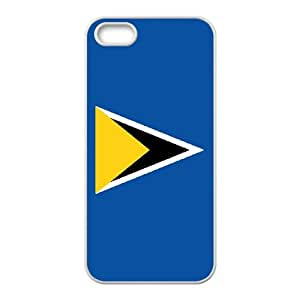 Classic Fashion Saint Lucia Flag iPhone 5 5s Cell Phone Case White Trendy Creative funny LOHL3HTY820683