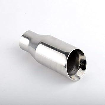 80mm Acero Inox. Tubo de Escape Pulido (Redondo/Biselado ...