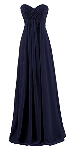 RohmBridal Sweetheart Prom Bridesmaid Dress Long Evening Gown Dark Navy 18