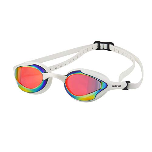 (New Wave Fusion Swim Goggles (Revo Lens in White Frame) Molten Pearl)
