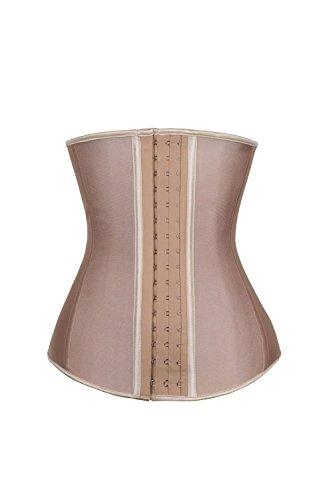 248db67624 KHC Women s Natural Latex Underbust Waist Corset Trainer Girdle   Amazon.co.uk  Clothing