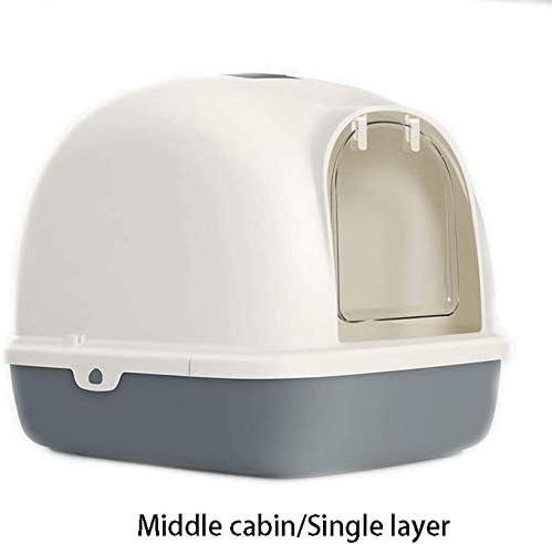 Cabina medio de una sola capa arena for gatos caja totalmente cerrada de primera gama de