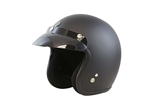 TORC (T50C Route 66 3/4 Helmet (Flat Black, Large)