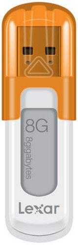 Lexar JumpDrive V10 Cl USB 2.0 8 Go BlancOrange LJDV10-8GBABEU