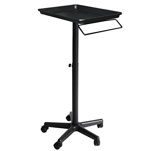 Aluminum Service Tray with Towel Holder TY-11 (Black) (Hair Color Tray compare prices)